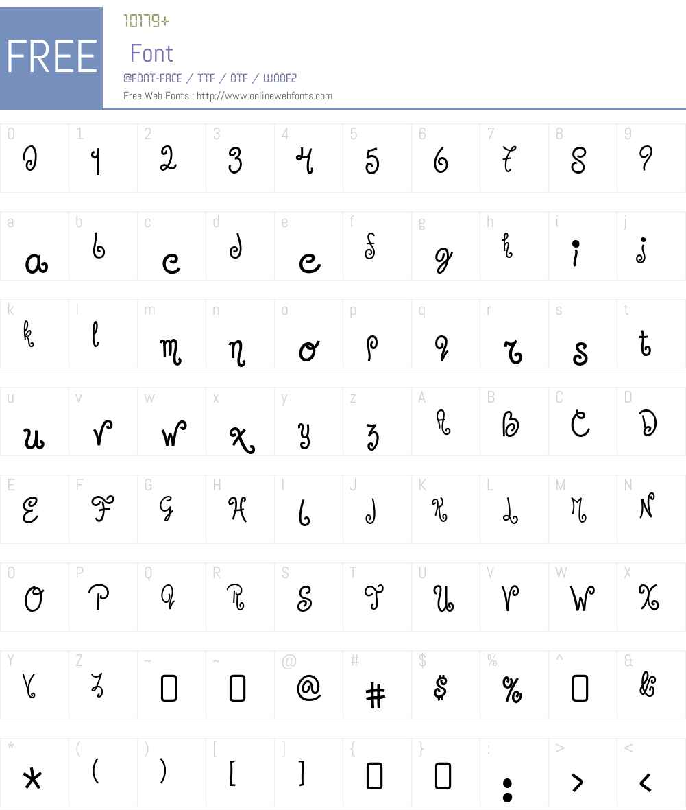 Jandles Font Screenshots