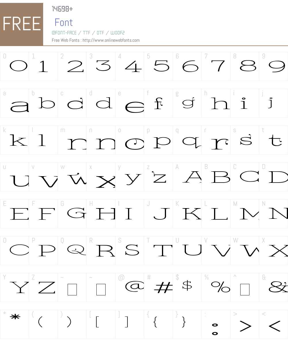 Kingthings Serifique UL Wide Font Screenshots
