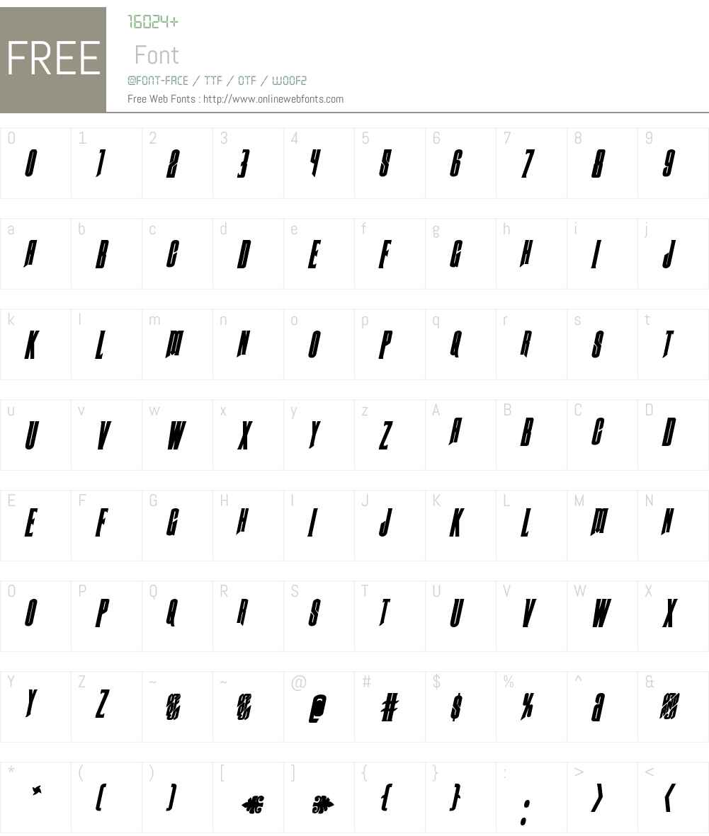 Butch & Sundance Bold Italic Font Screenshots