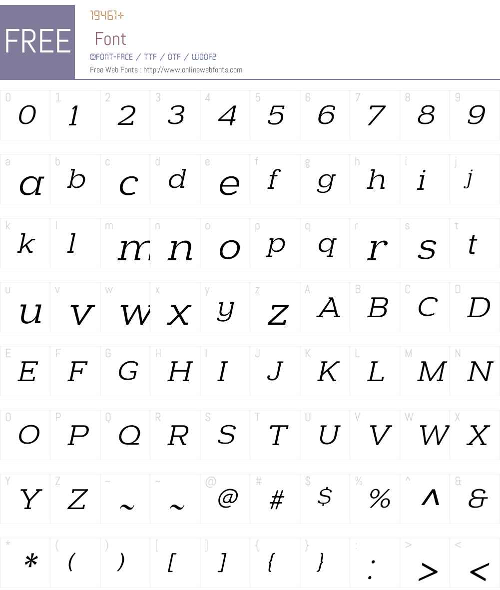 Donnerstag Regular Italic Font Screenshots