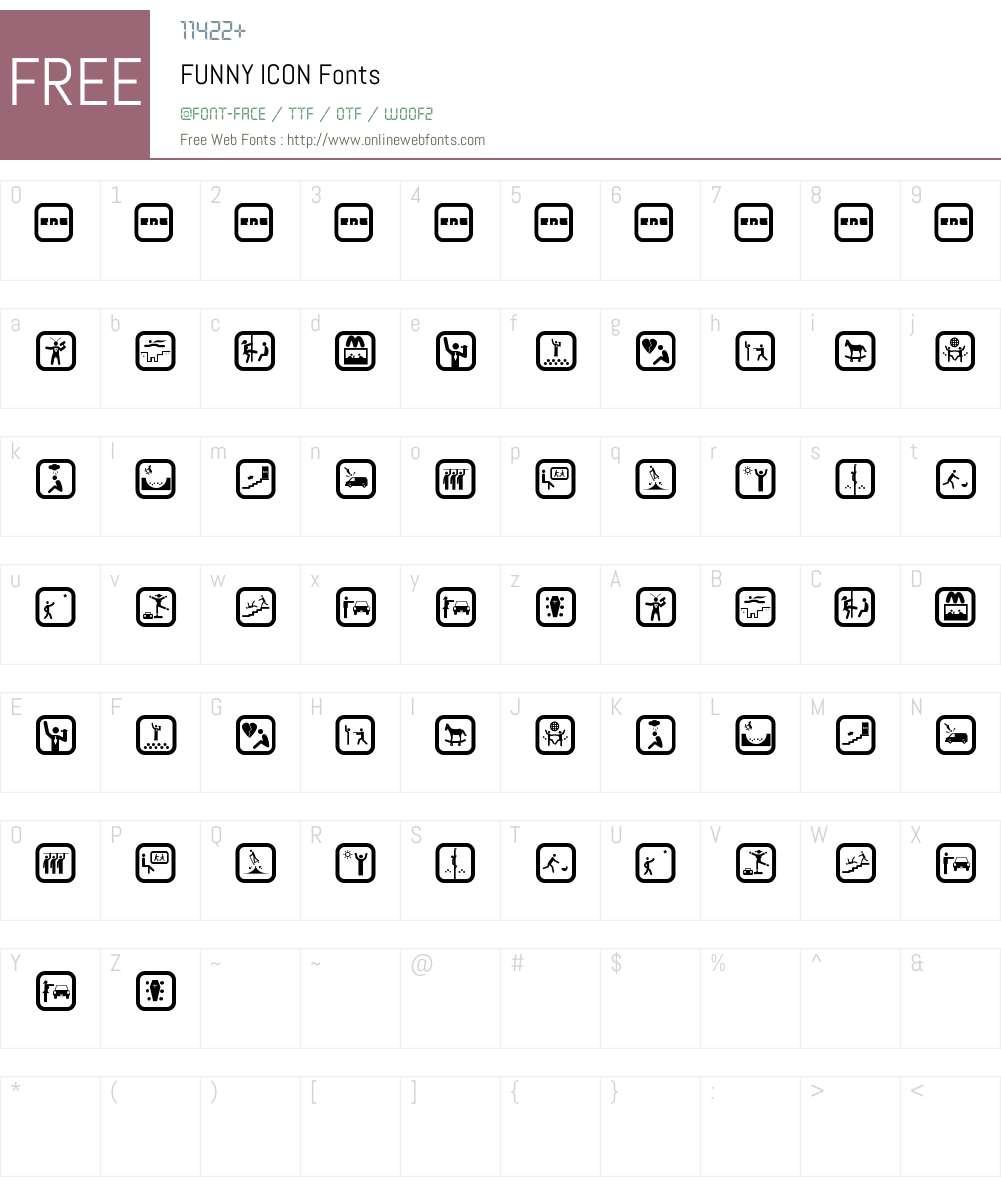 FUNNY ICON Font Screenshots