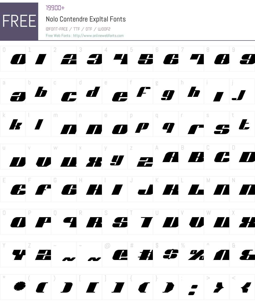 Nolo Contendre ExpItal Font Screenshots