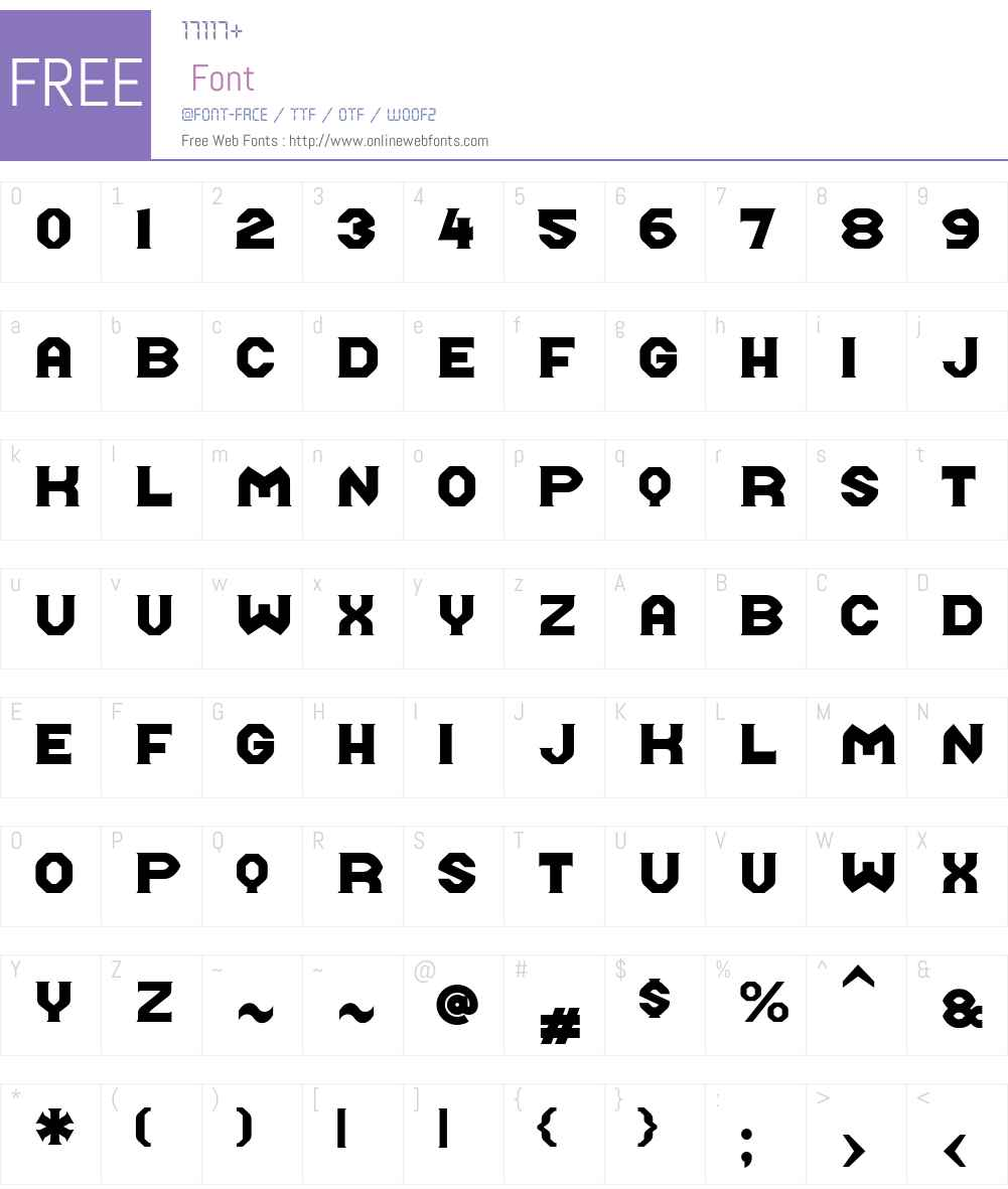 Midroba Font Screenshots