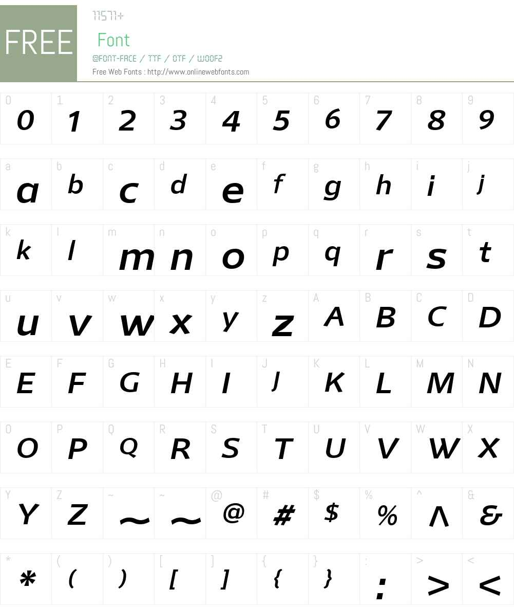MellnikW01-RegularItalic Font Screenshots