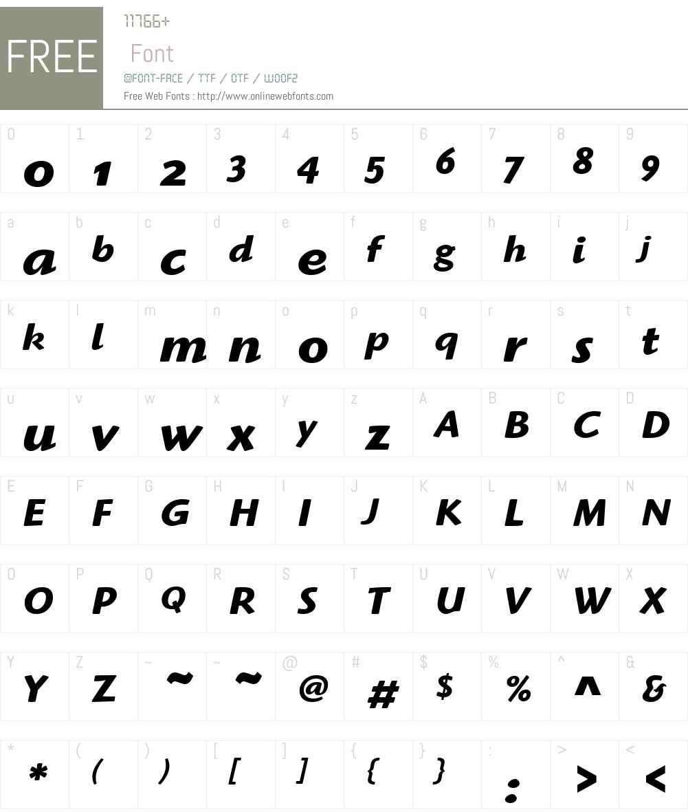 Highlander OS ITC TT Font Screenshots