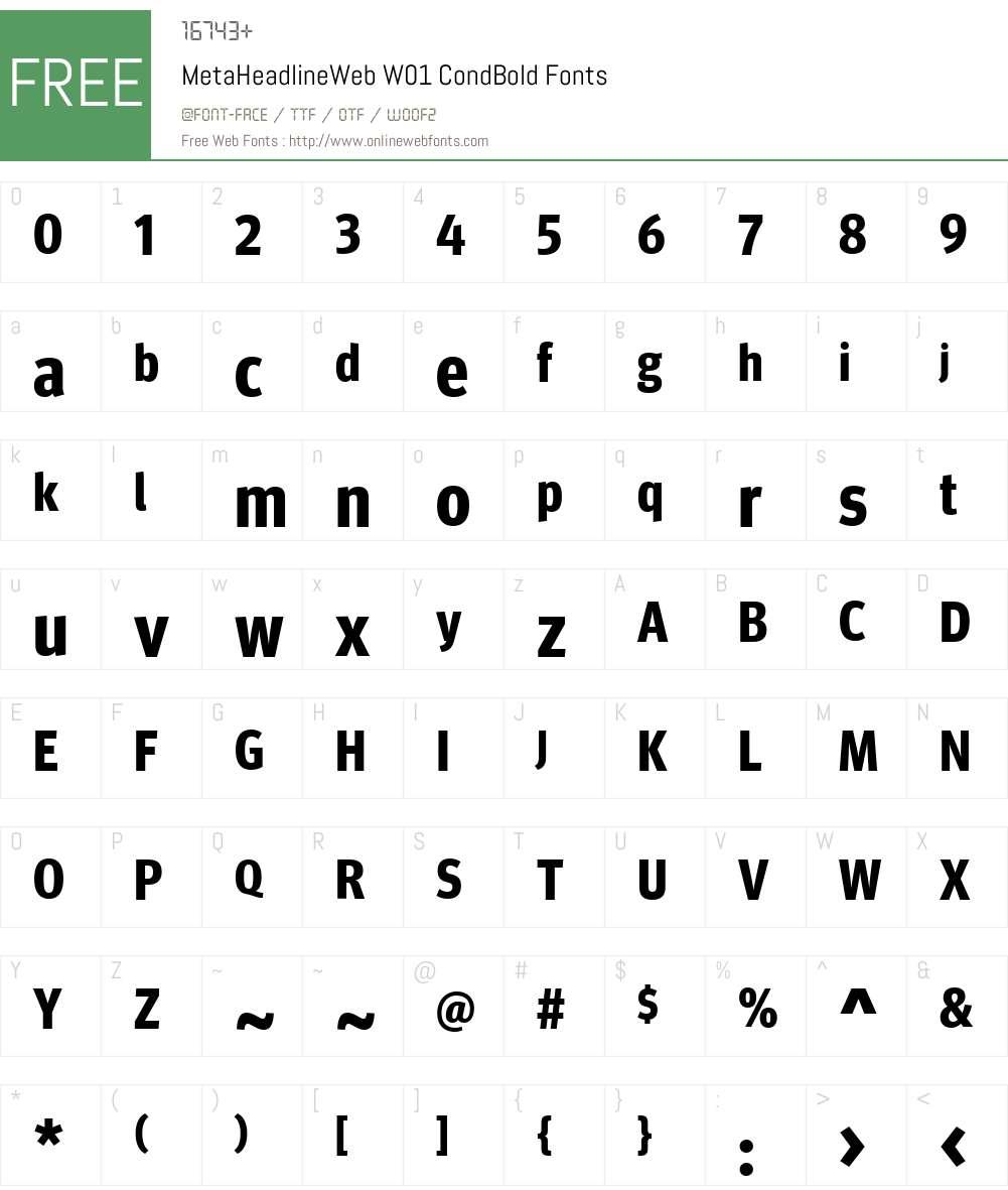 MetaHeadlineWebW01-CnBold Font Screenshots