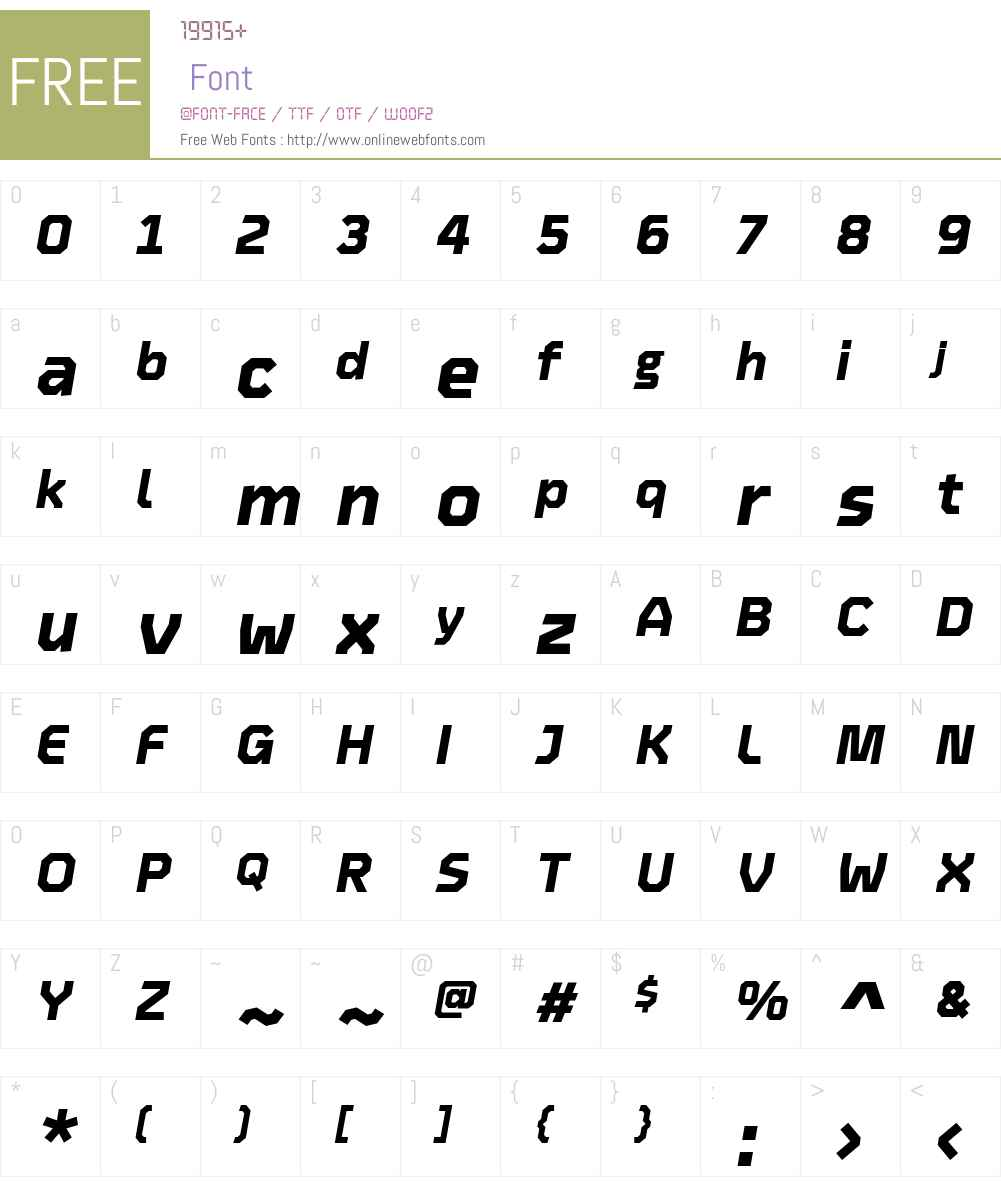 Oyko ExtraBold Font Screenshots