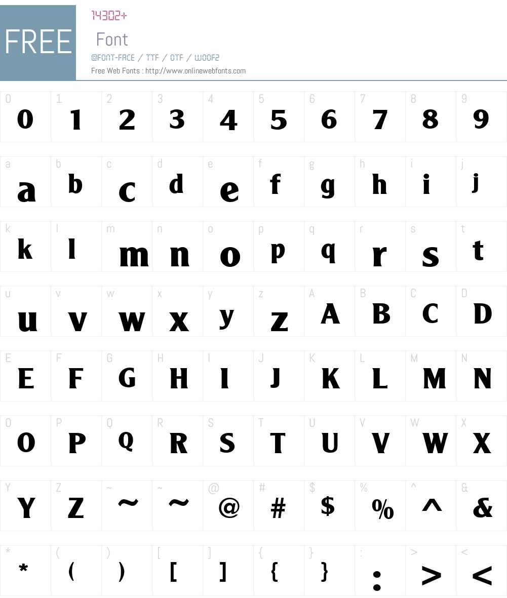 URWAgendaW01-Bold Font Screenshots
