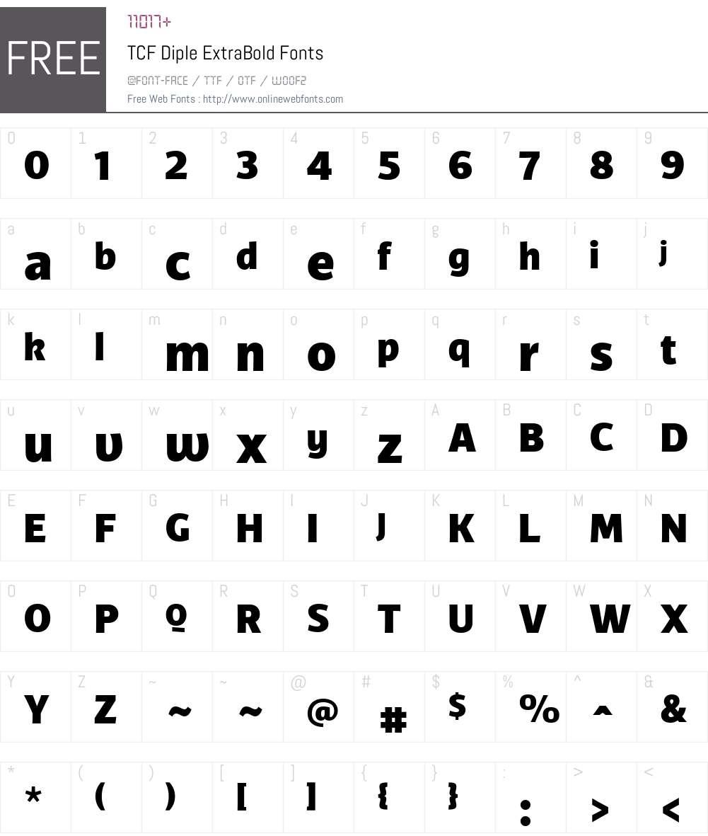 TCFDiple-ExtraBold Font Screenshots