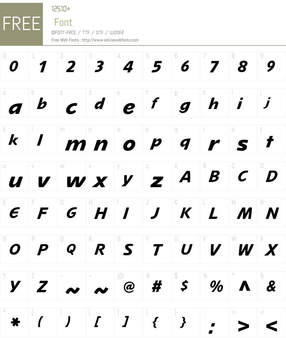 Mano LT Regular Font Screenshots