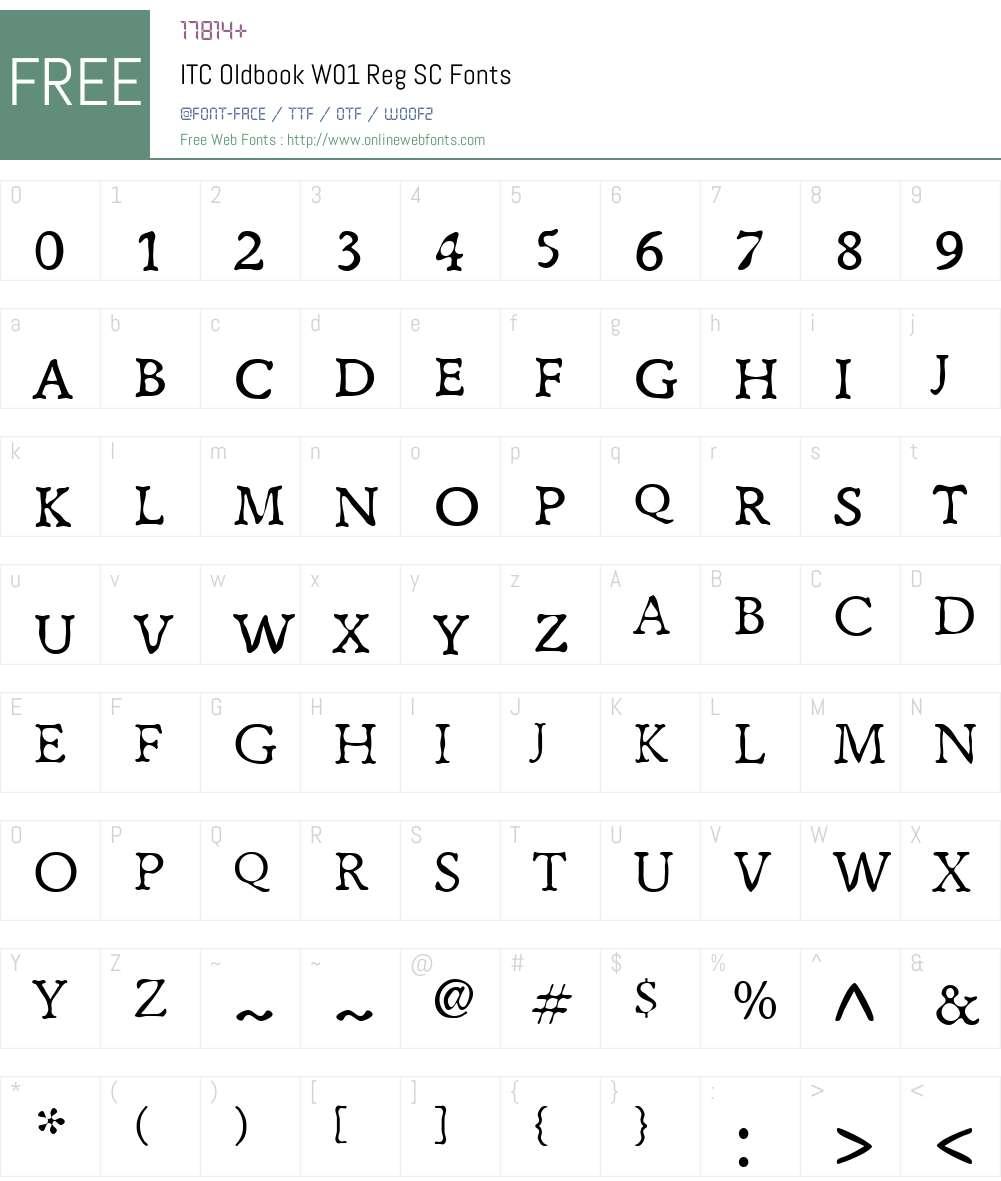 ITCOldbookW01-RegSC Font Screenshots