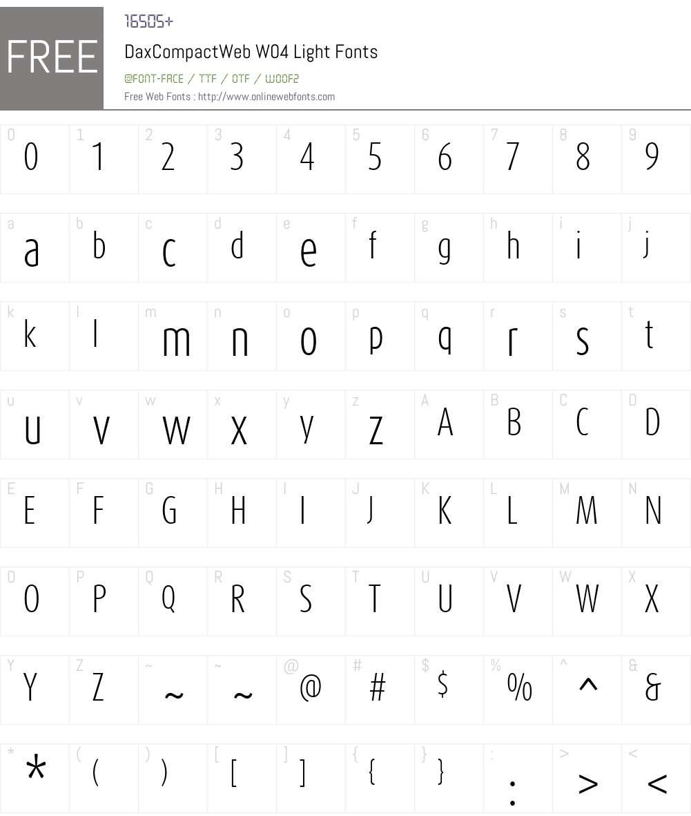 FF Dax Compact Font Screenshots