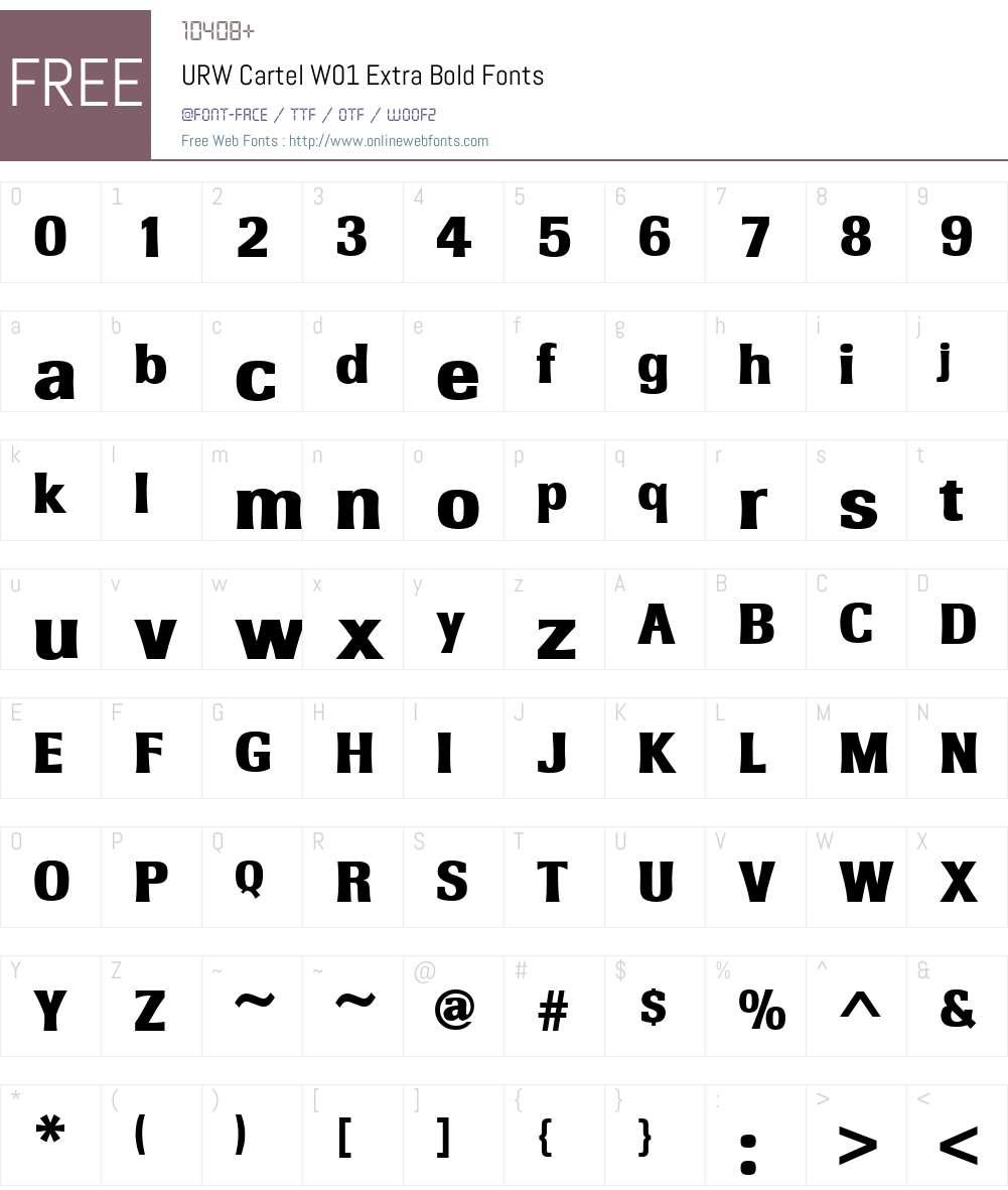 URWCartelW01-ExtraBold Font Screenshots