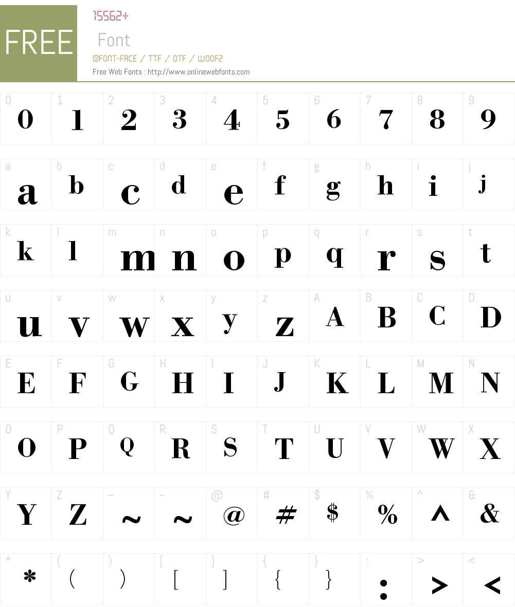 WTCOurBodoniW01-Medium Font Screenshots