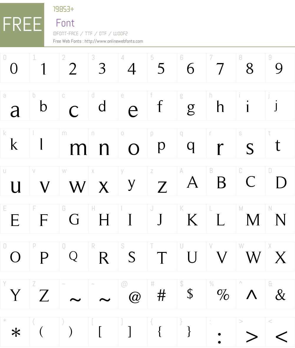 RomanSerif Font Screenshots