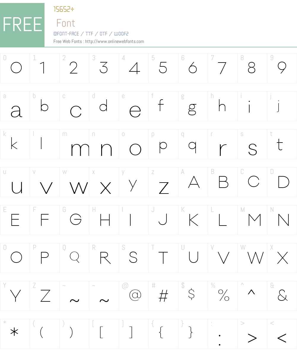 GalanoClassicW00-ExtraLight Font Screenshots