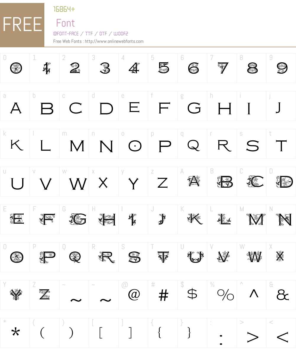 CopperplateClassicW01-LtFlo Font Screenshots