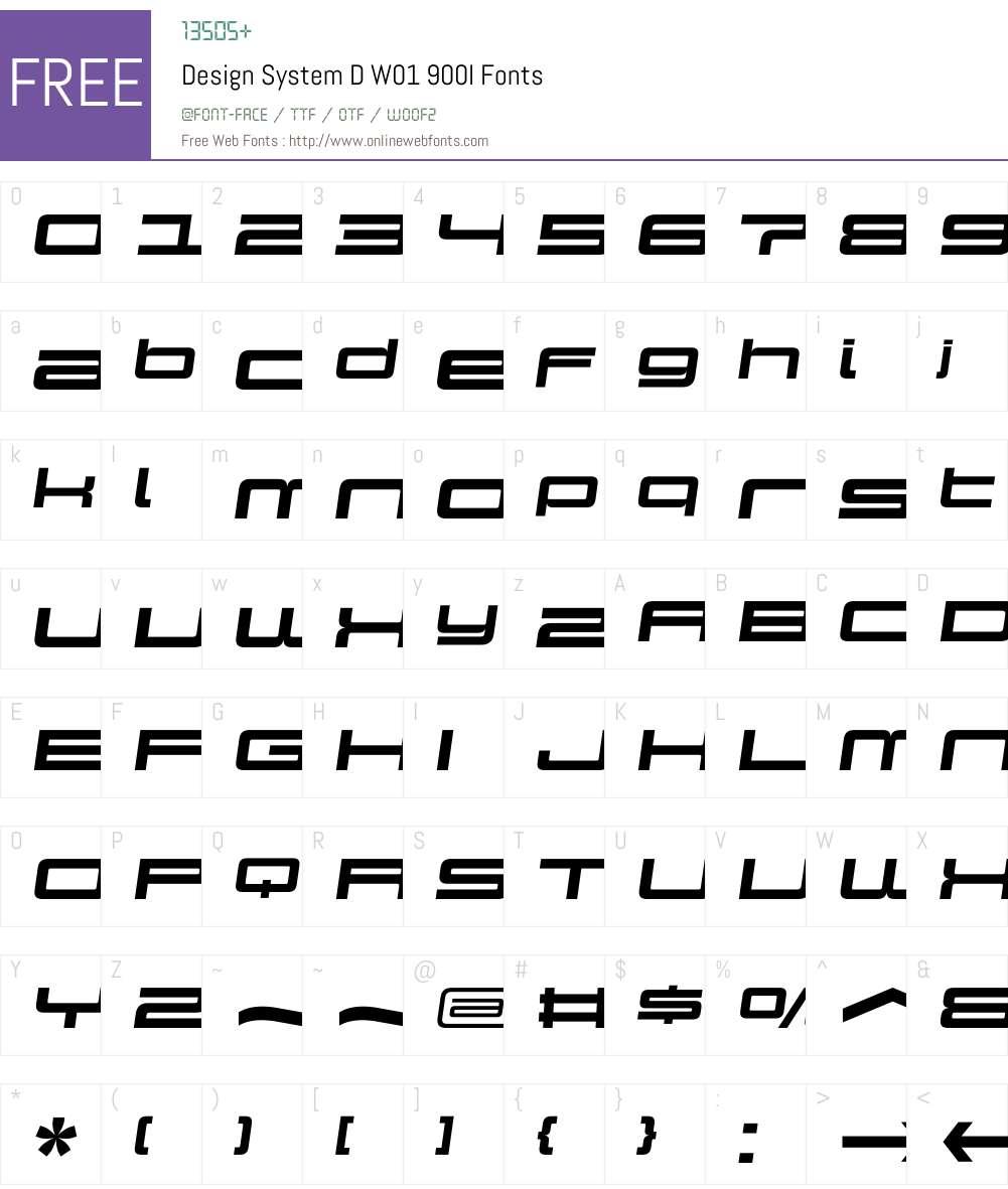 DesignSystemDW01-900I Font Screenshots