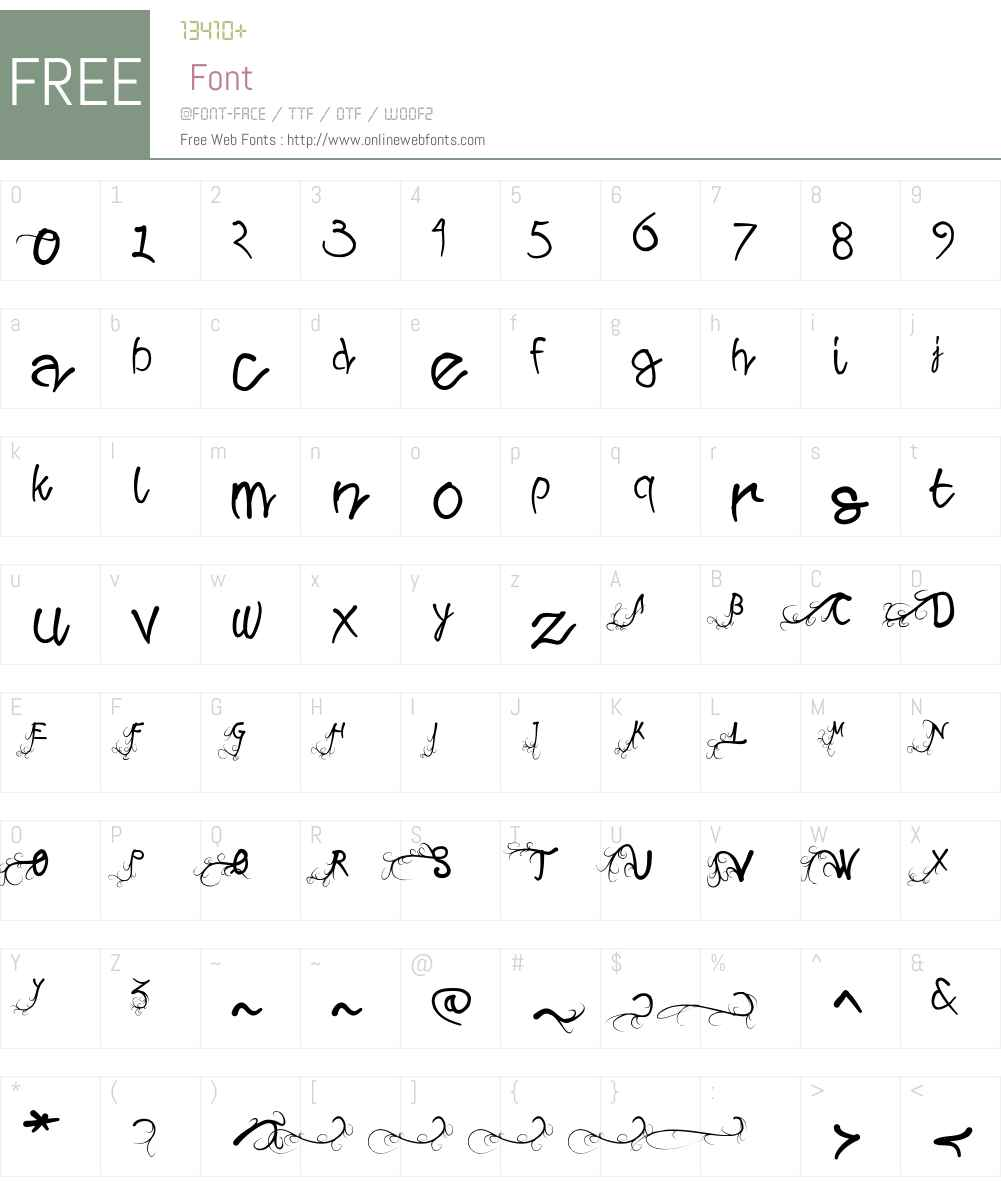 WildGrowthW00-Regular Font Screenshots