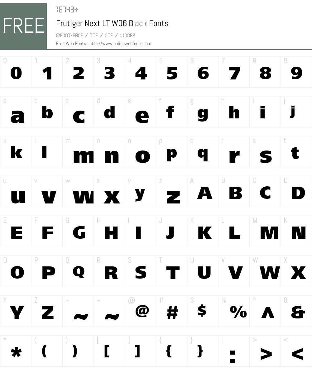 FrutigerNextLTW06-Black Font Screenshots