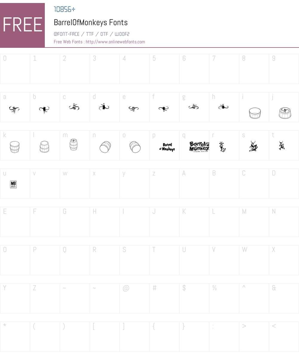 BarrelOfMonkeys Font Screenshots