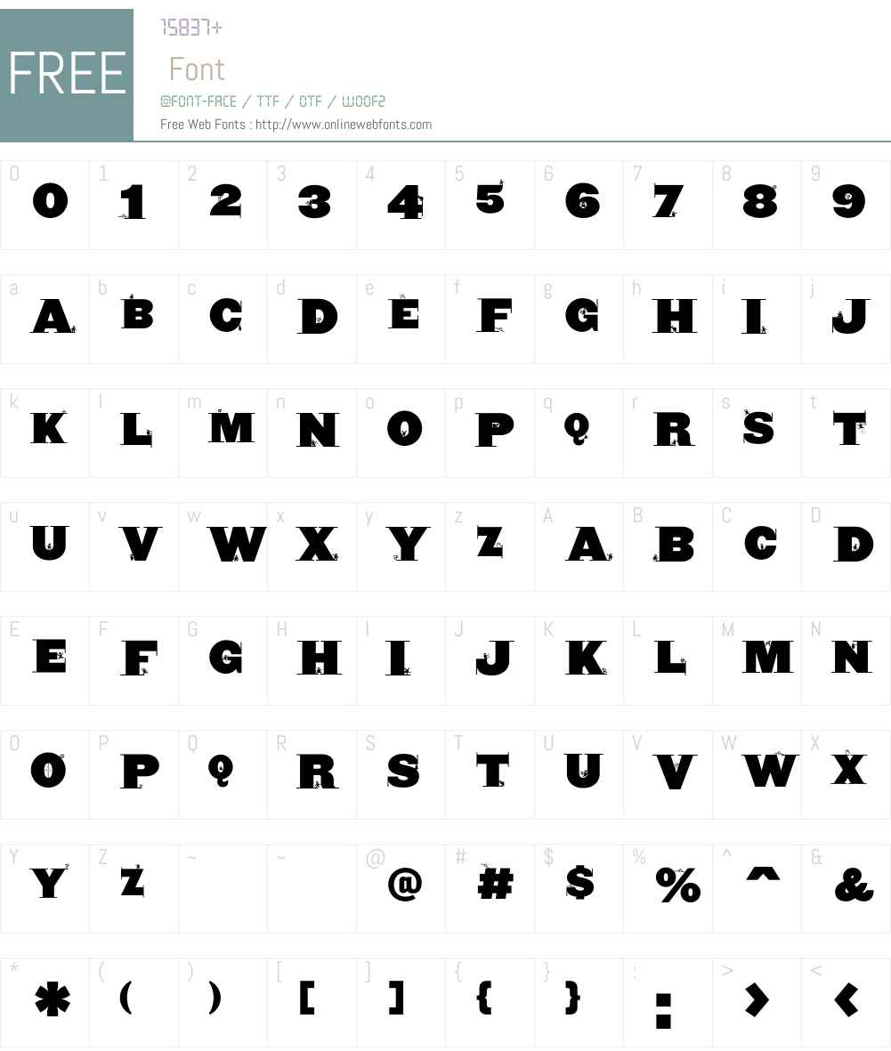 CyclopsBlax4Dirk Font Screenshots