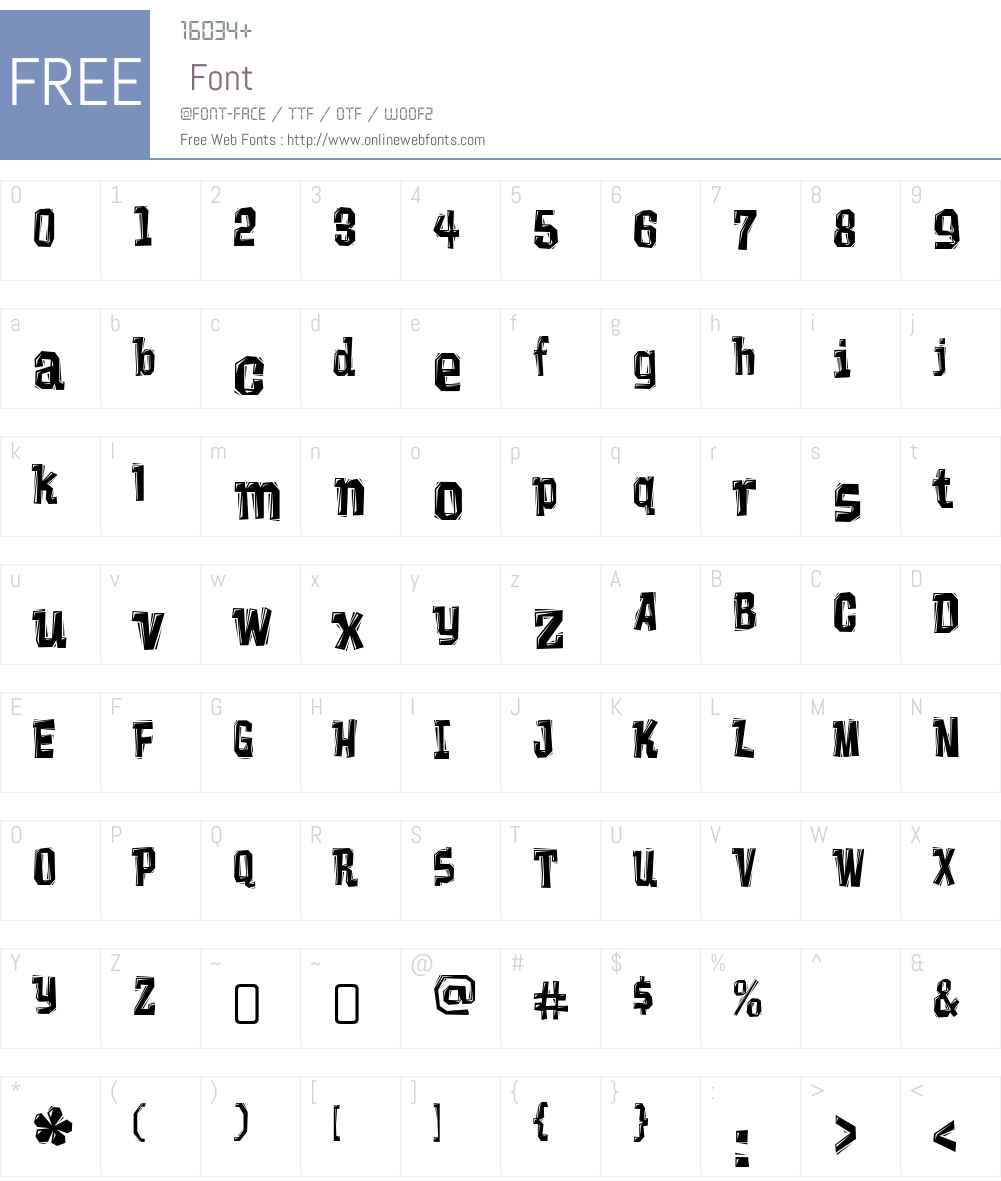 VademecumW00-Regular Font Screenshots
