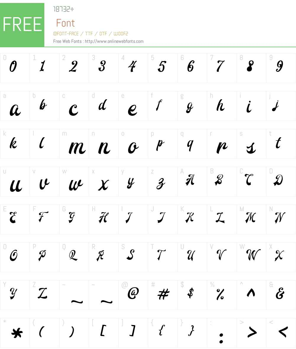 Redoura Font Screenshots