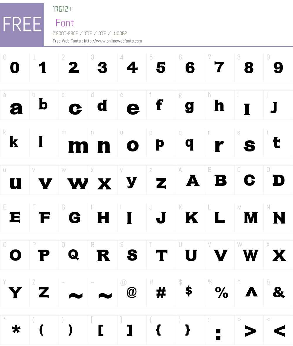 Antibios Font Screenshots