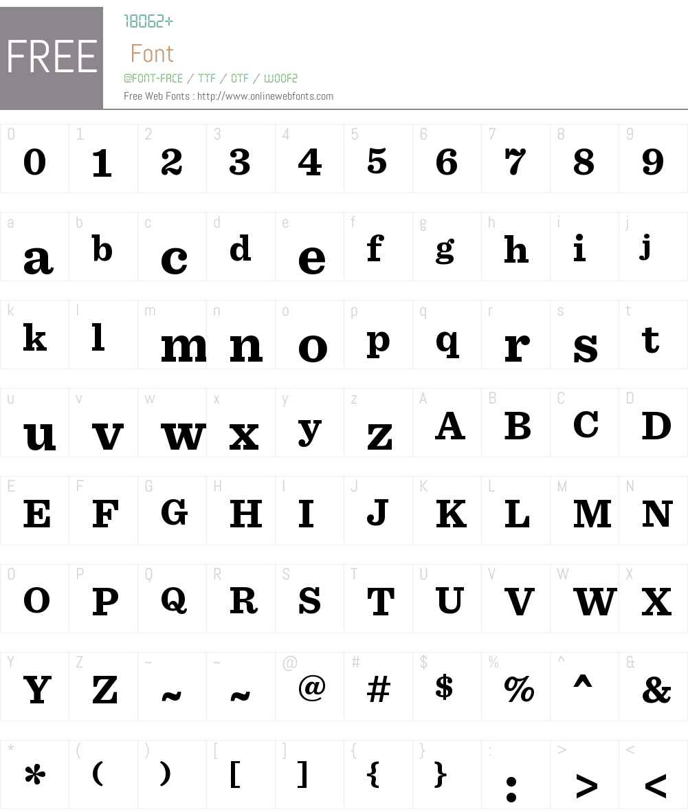 Sentinel Bold Font Screenshots