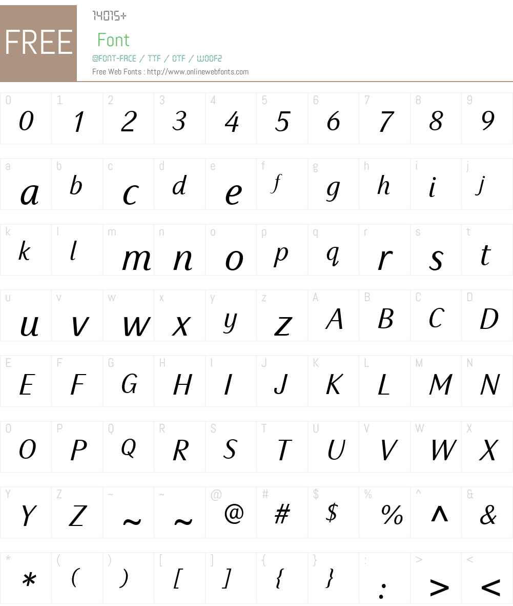SassoonPrimaryW04-Italic Font Screenshots