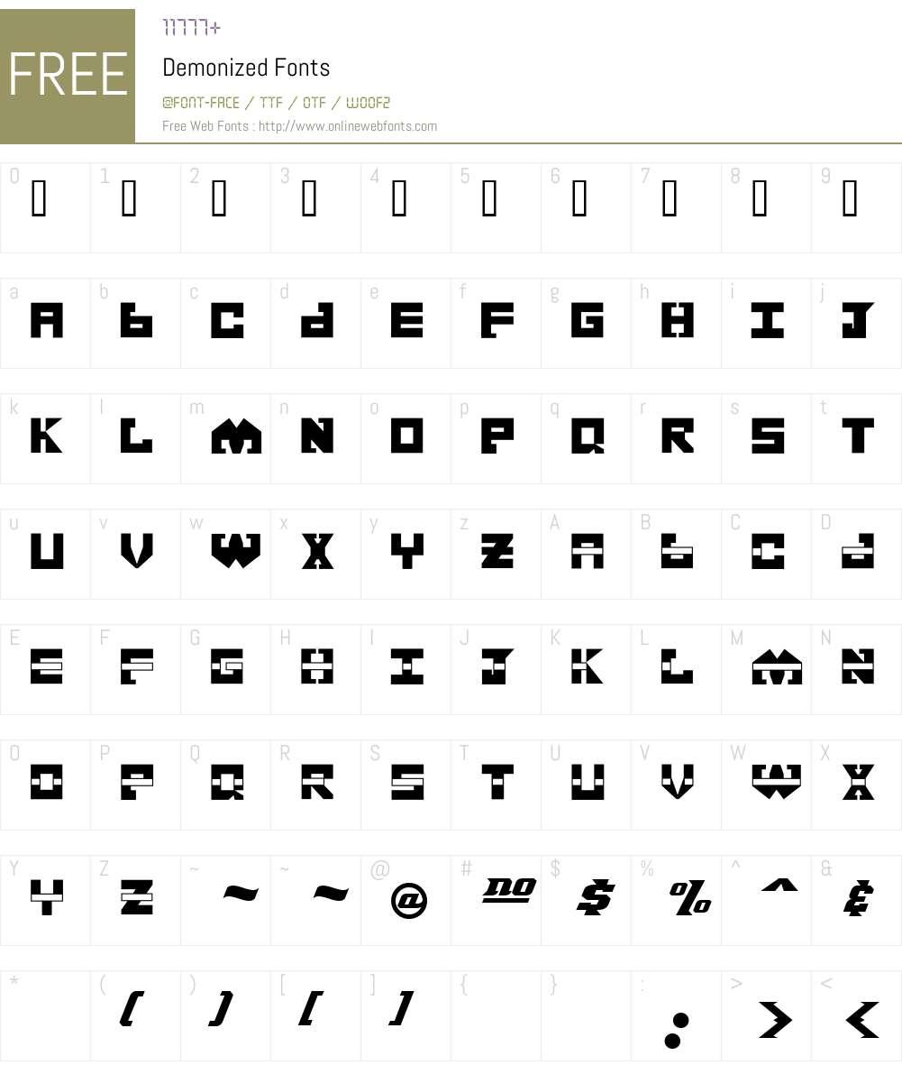 Demonized Font Screenshots