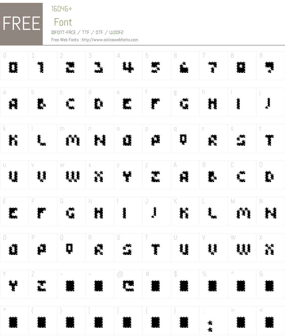FFU Puzzle Font Screenshots