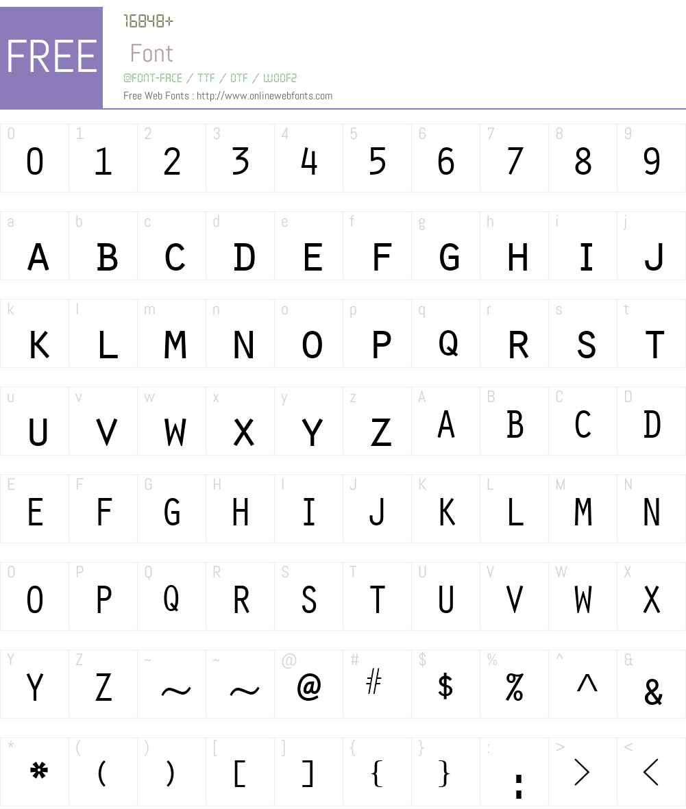Scribe SSi Font Screenshots