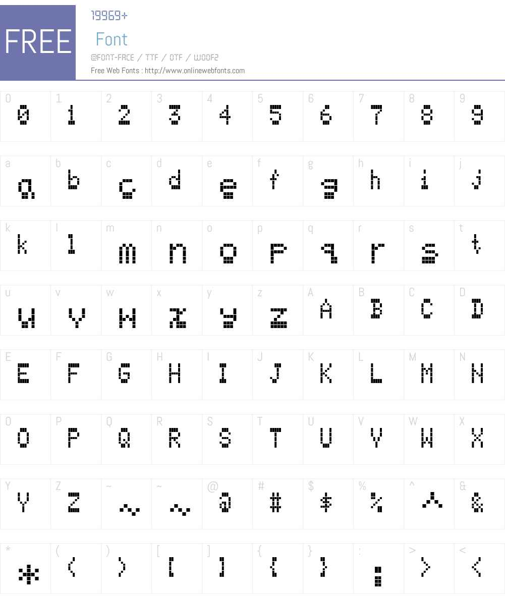 FF Screen Matrix Font Screenshots