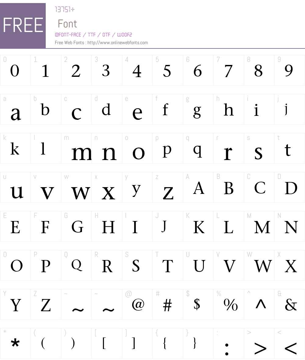 ITC Stone Serif Std Font Screenshots