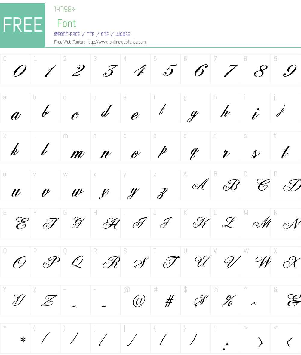 FleurishScript Font Screenshots