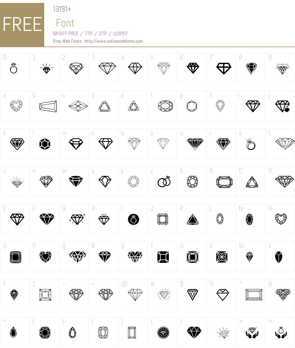 Diamonds Font Screenshots
