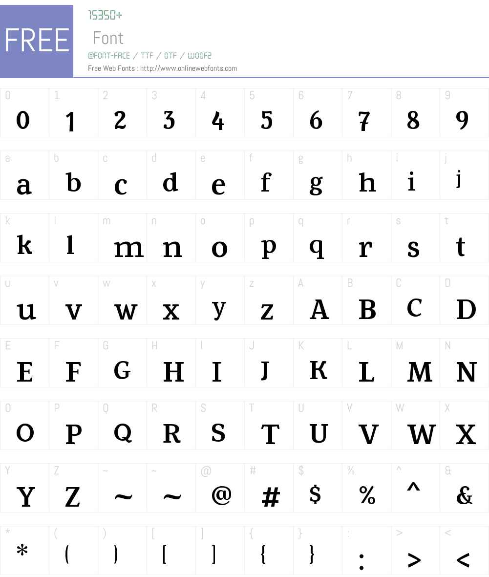 Fowviel Font Screenshots