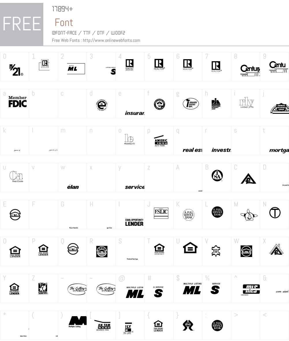 LogosService Font Screenshots