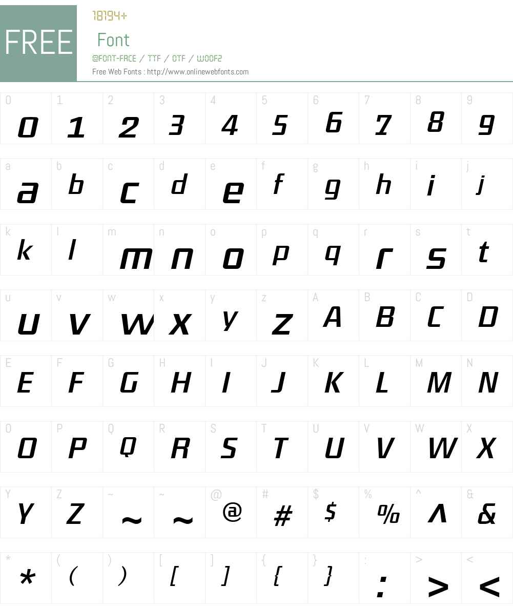 District-RegularItalic Font Screenshots
