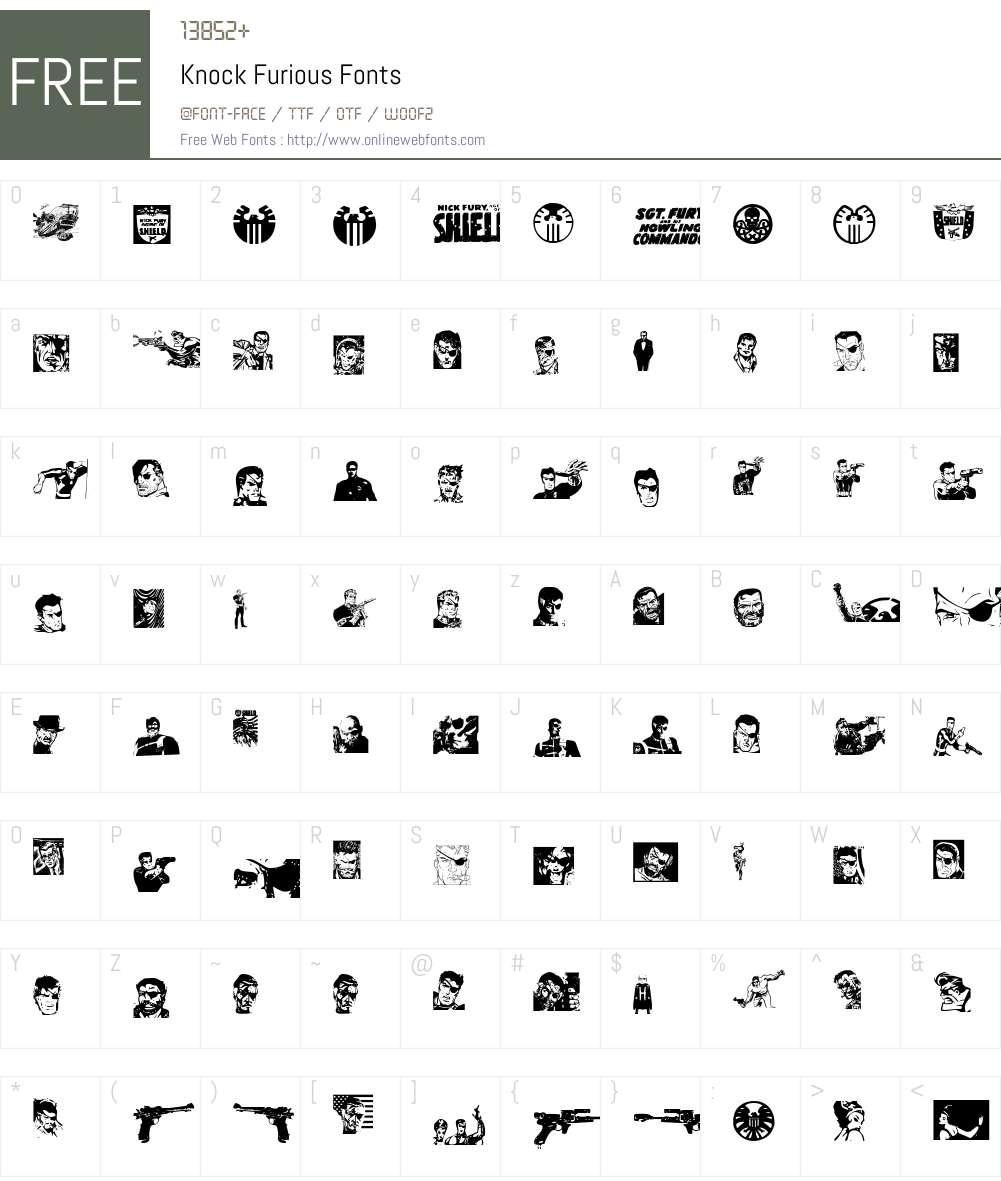 Knock Furious Font Screenshots
