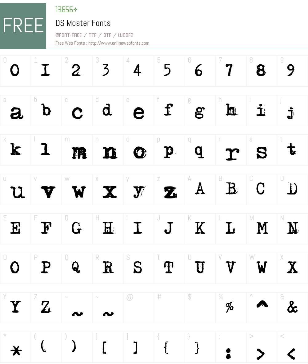 DS Moster Font Screenshots