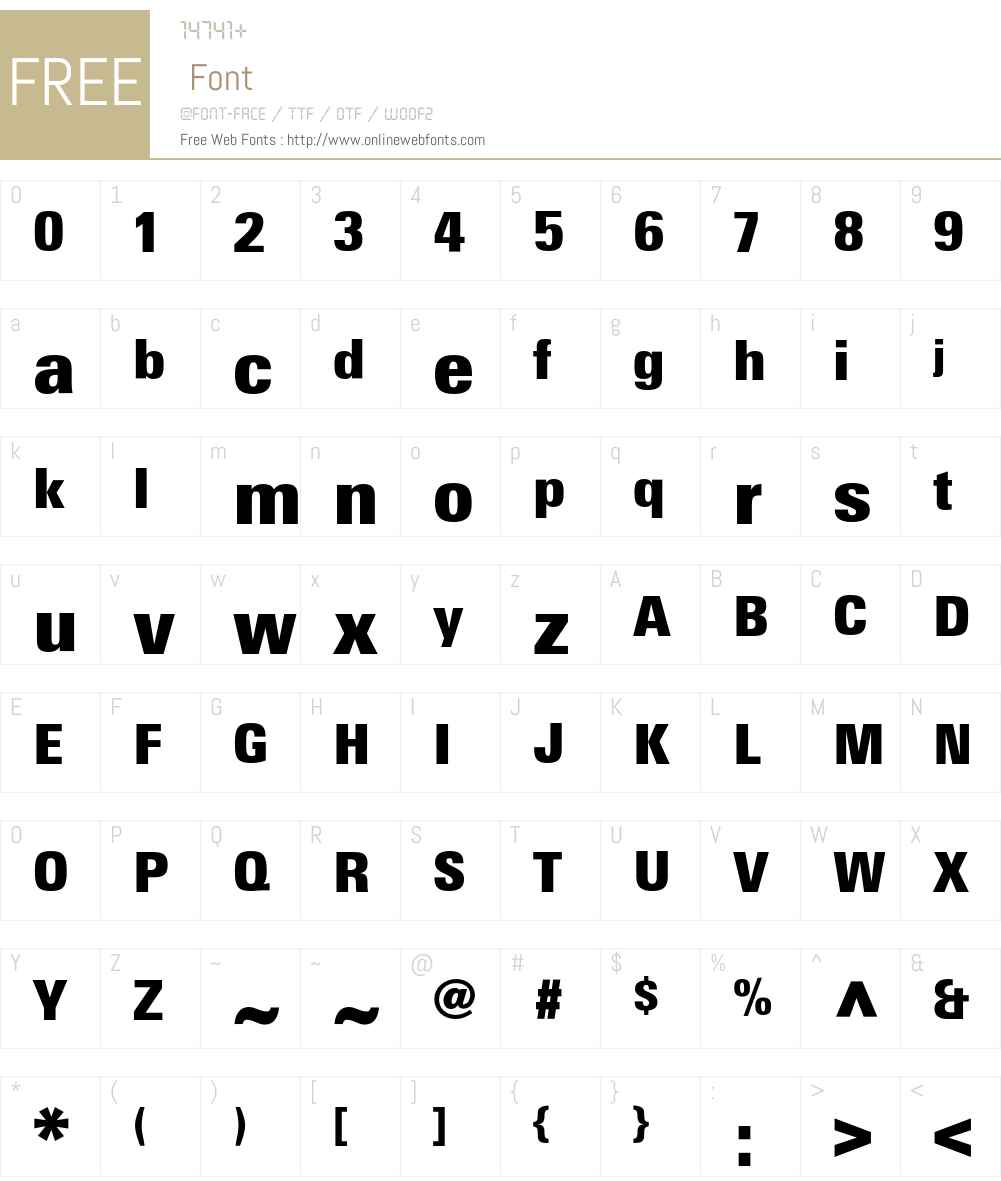 LTUnivers Font Screenshots