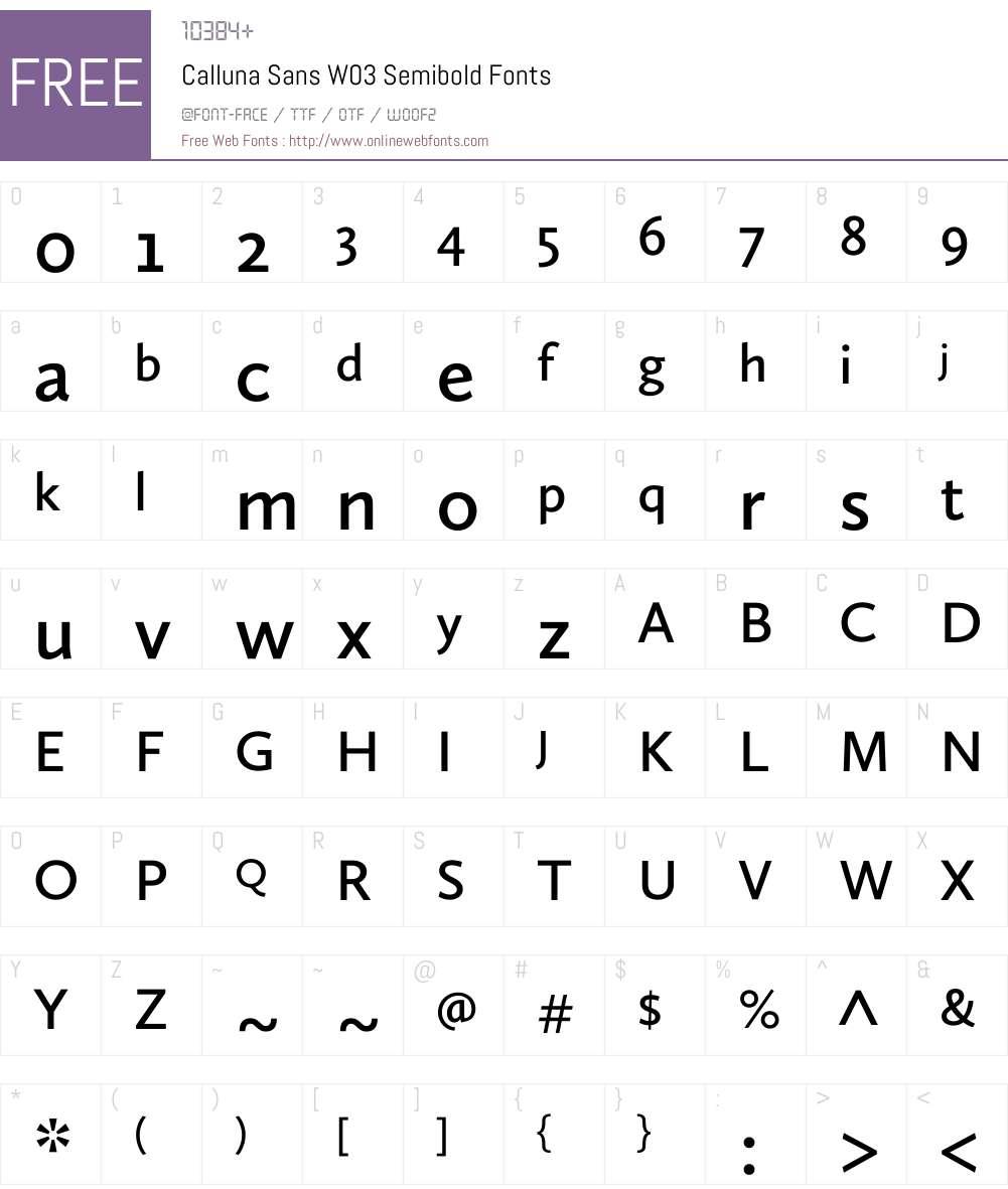 Calluna Sans Font Screenshots