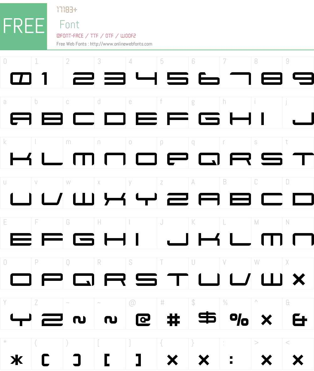 Xenotron Font Screenshots