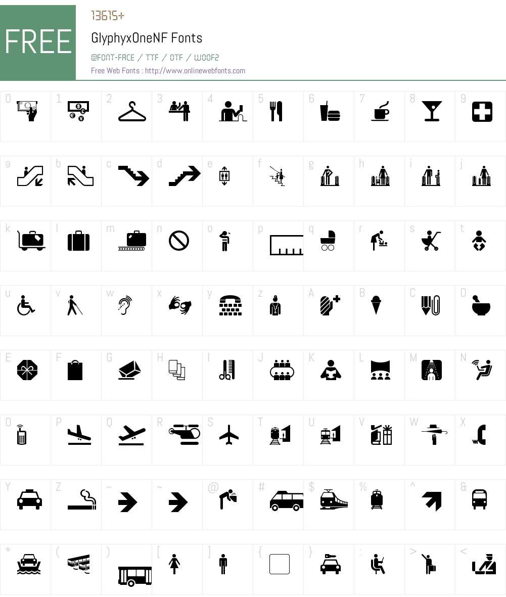 Glyphyx One NF Font Screenshots