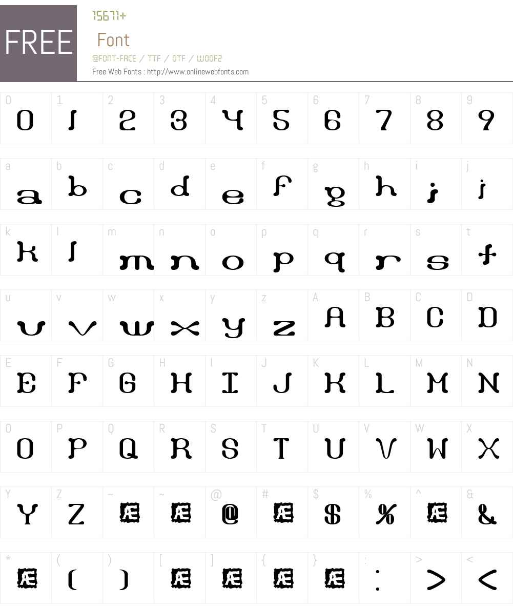 Draggle over kerned BRK Font Screenshots