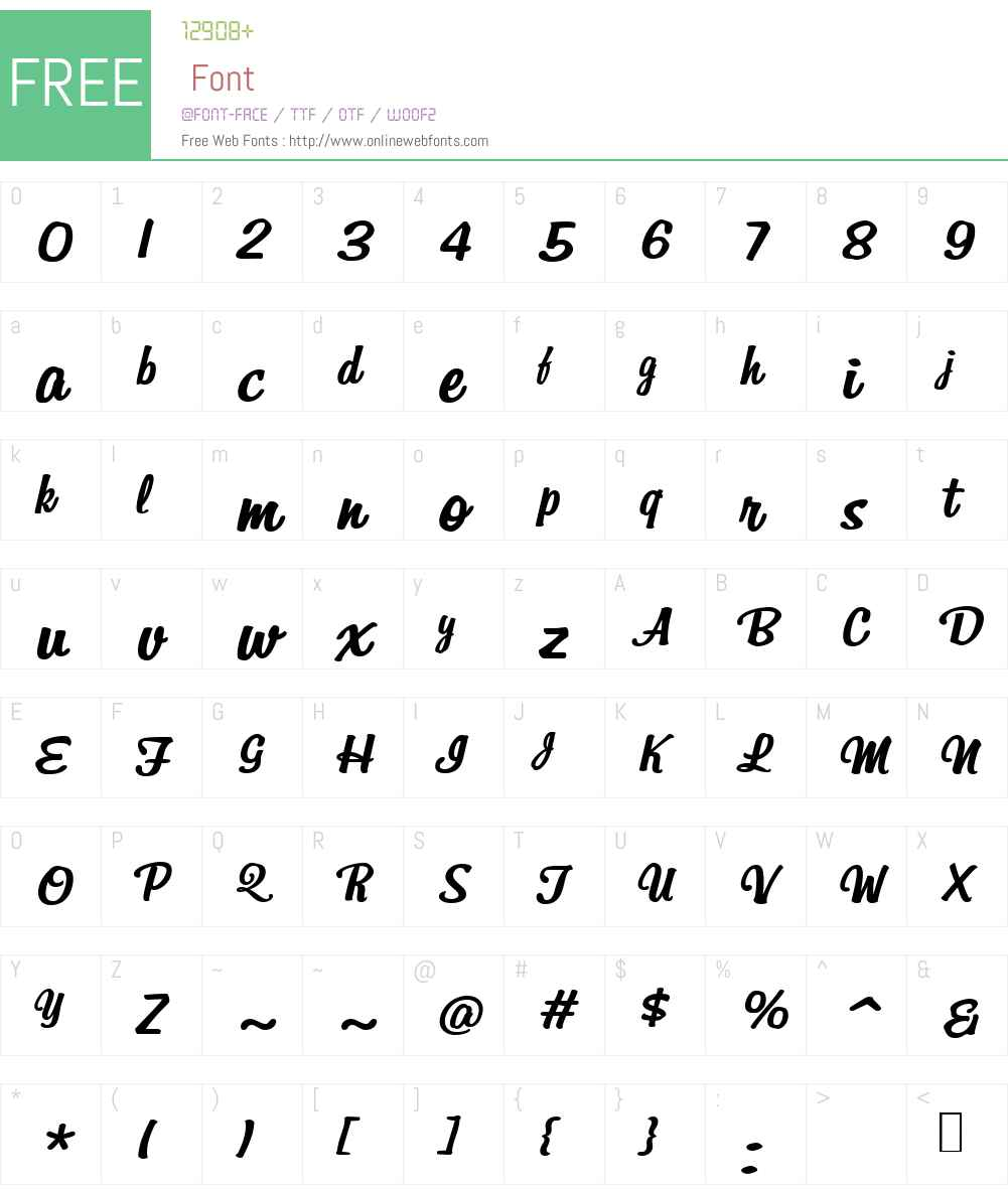 BillabongBoldItalicW00-Rg Font Screenshots