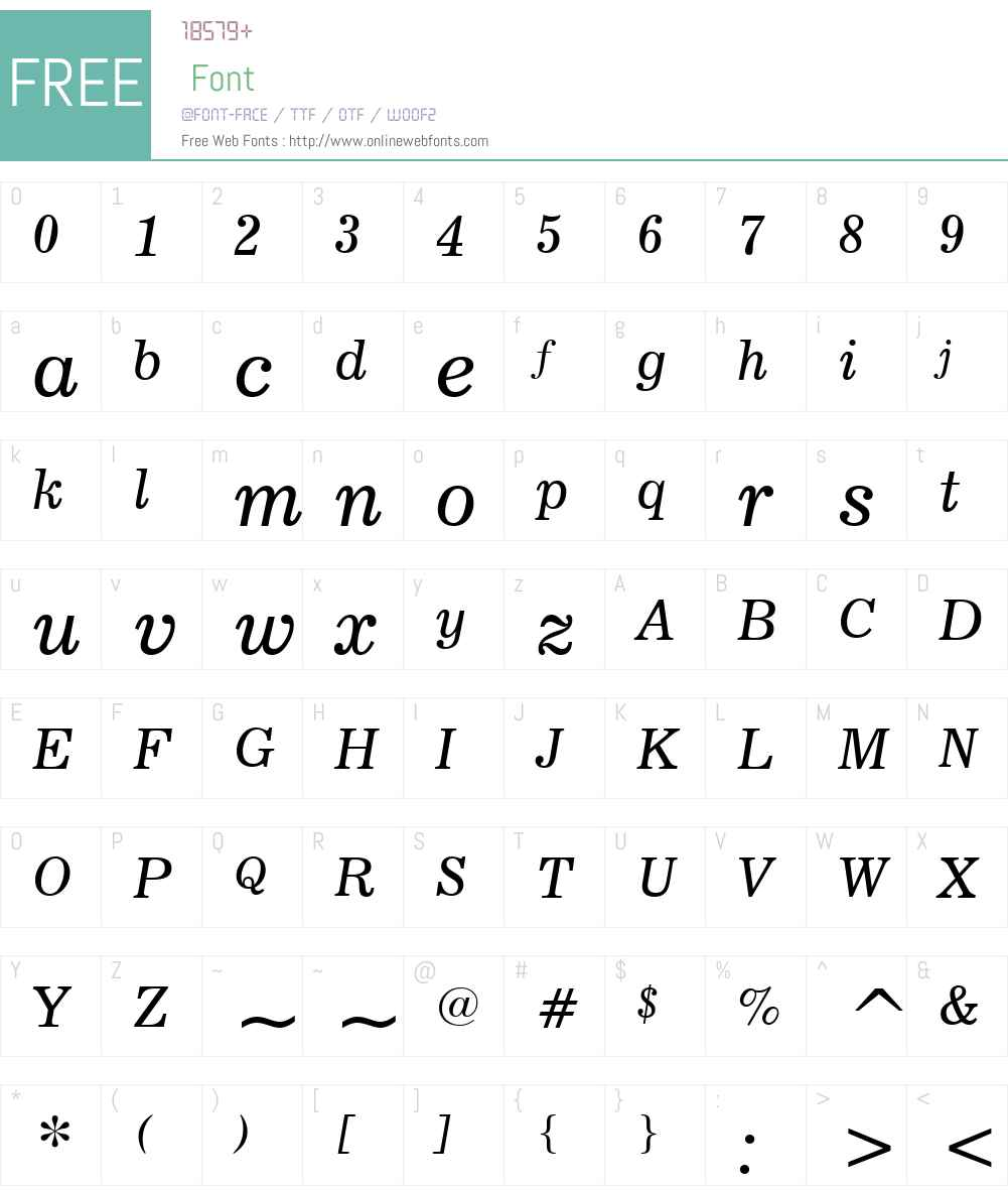 News706W01-Italic Font Screenshots